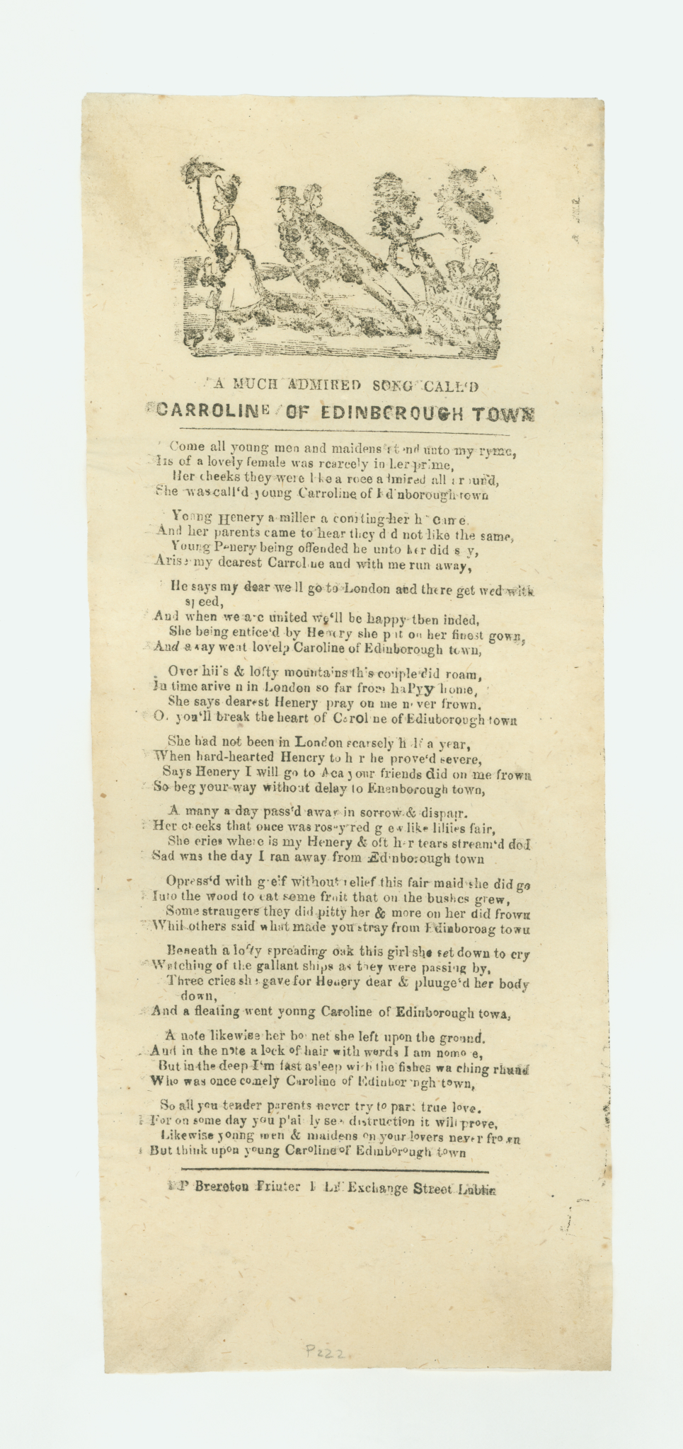 """A Much Admired Song Called Caroline of Edinbrough Town"""