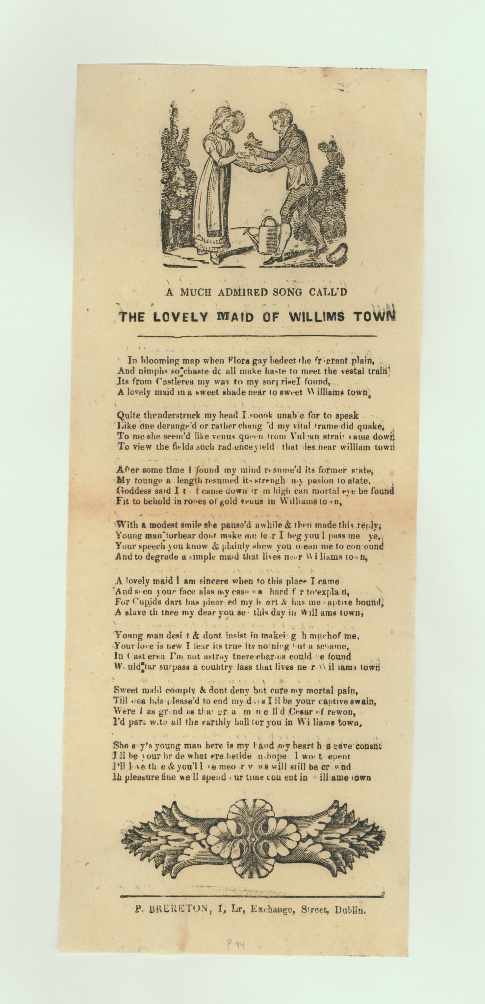 """""""A Much Admired Song Called the Lovely Maid of Williams Town"""""""