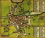 map inset of Dublin