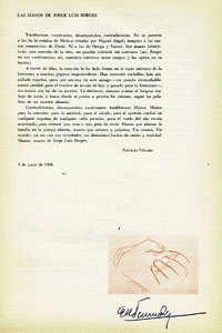 The page with Nicolás Cócaro's commentary