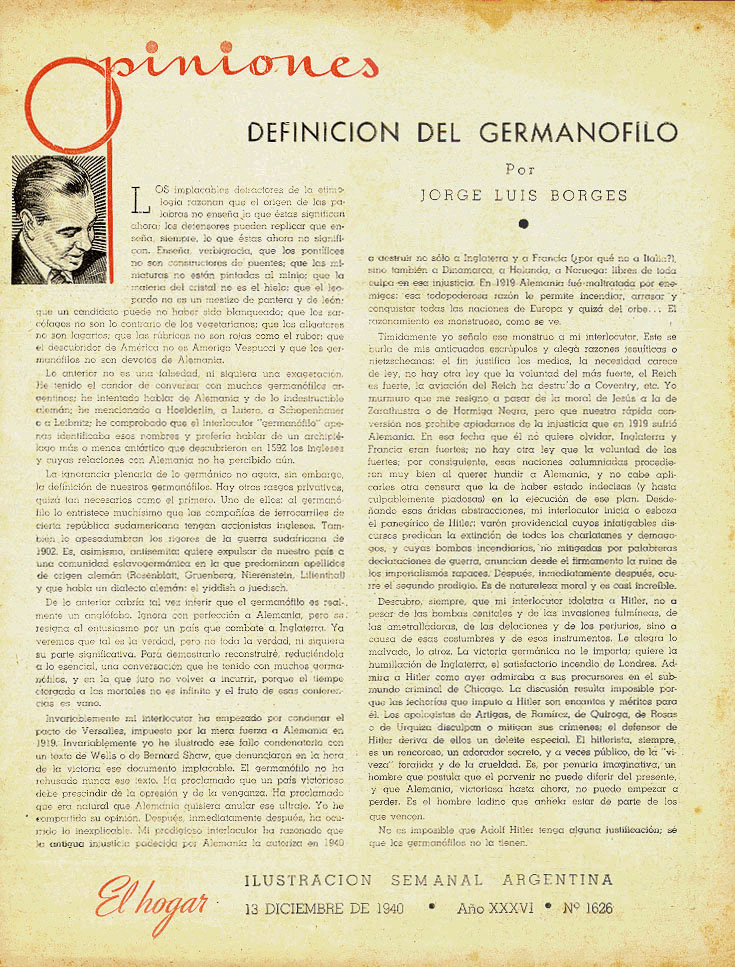 list borges essays Jorge luis borges bibliography borges in 1976 this is a bibliography of el martín fierro, 1953, essays on the epic argentine poem martín fierro.