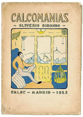 The front cover of the 1925 edition of Calcomanias.