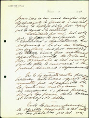 Second page of a handwritten letter from Gabriela Mistral to Eduardo Barrios, dated 21 June1920.