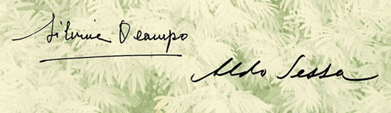Enlarged detail of Ocampo and Sessa's signatures.