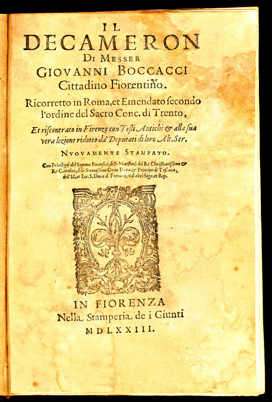 an analysis of the decameron by giovanni boccaccio Let me begin this analysis by qualifying my claim that boccaccio differs from  petrarch in  understand himself better): giovanni boccaccio: decameron, 16.