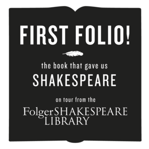 Logo for First Folio exhibit in RBSC